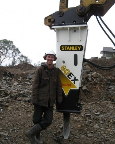 Clark Pacific Excavating - Stanley Rock Breaker